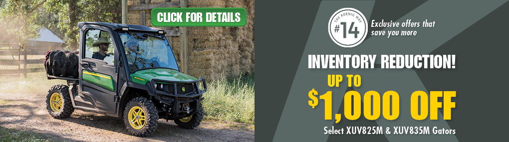 Gator Inventory Reduction Banner