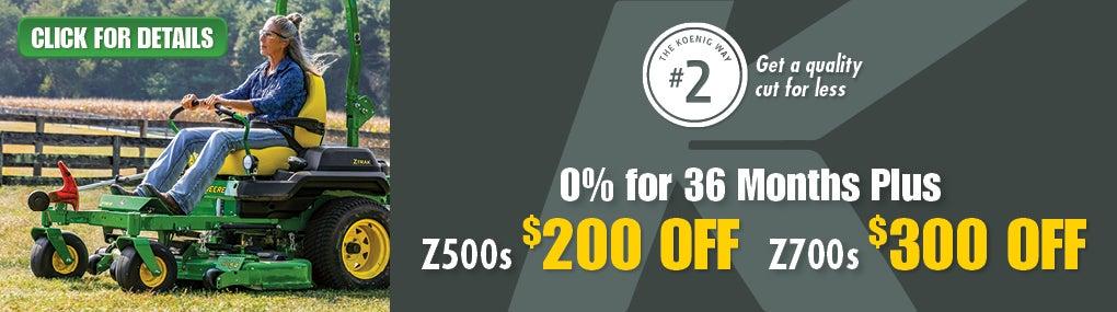 Z500_Z700 Zero Turn Mowers Banner