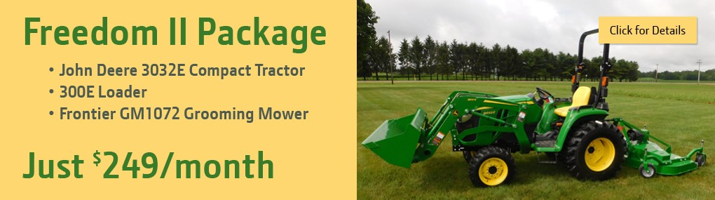 Freedom II Tractor Package Banner