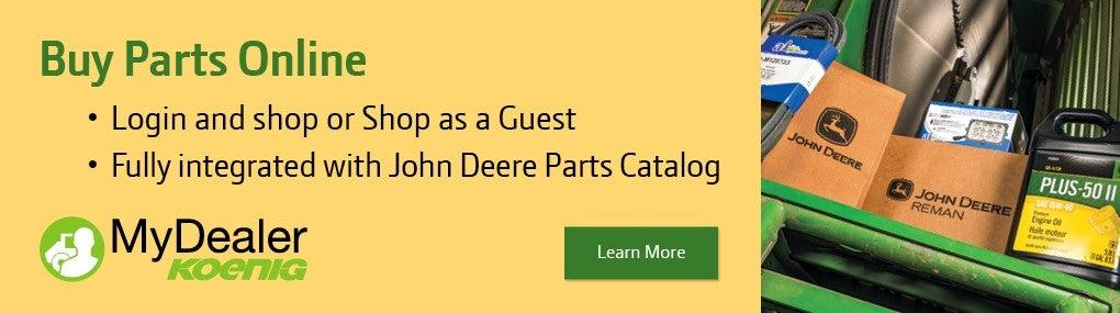 Buy John Deere Parts Online with Koenig MyDealer