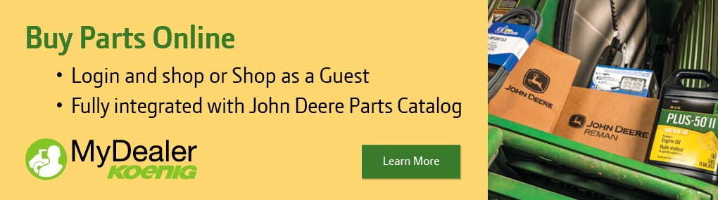 Buy John Deere Parts Online with Koenig MyDealer