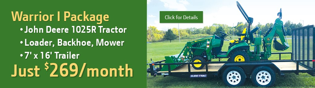 Warrior I Tractor Package Banner