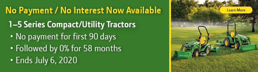 90 Days No Payment Not Interest on Tractors Banner