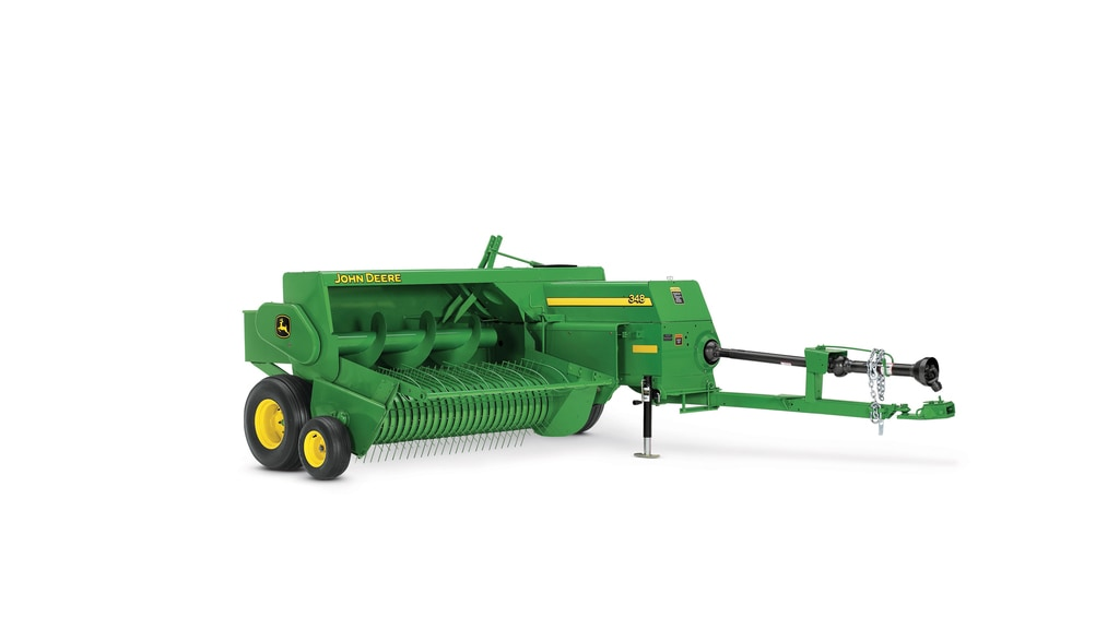Studio image of 348 small square baler