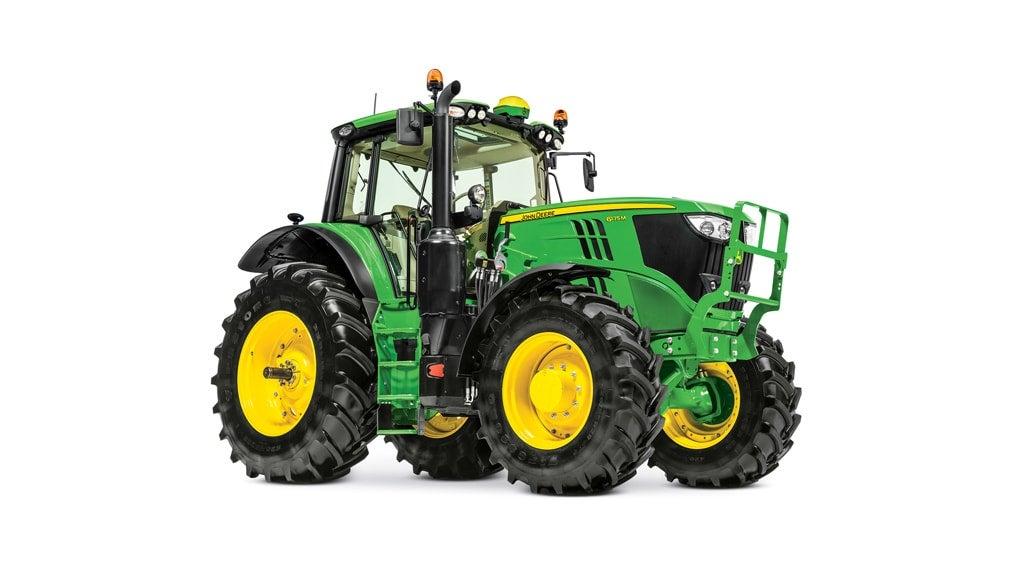 studio image of 6175m utility tractor