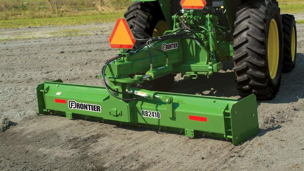 field image of Frontier RB24 series rear blade on tractor
