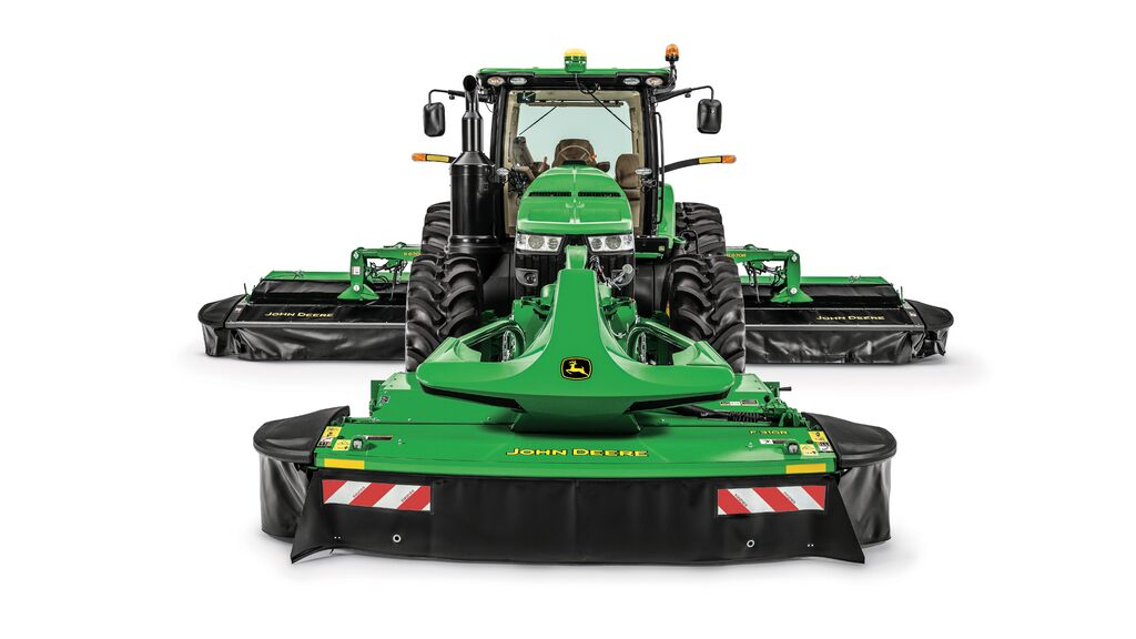 Studio image of a F310R Front Mount Mower Conditioner