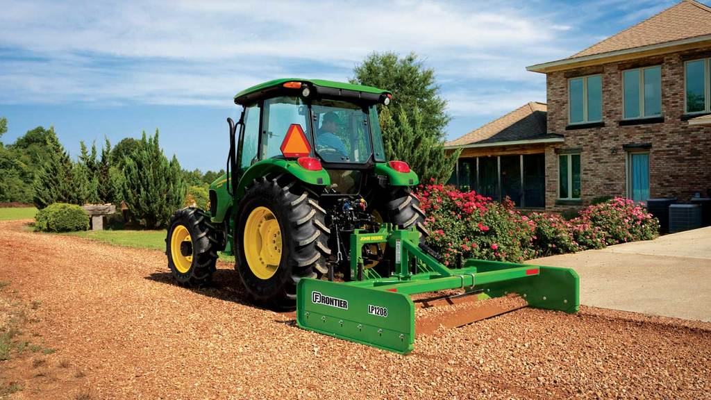 field image of Frontier LP12 series land plane on a tractor