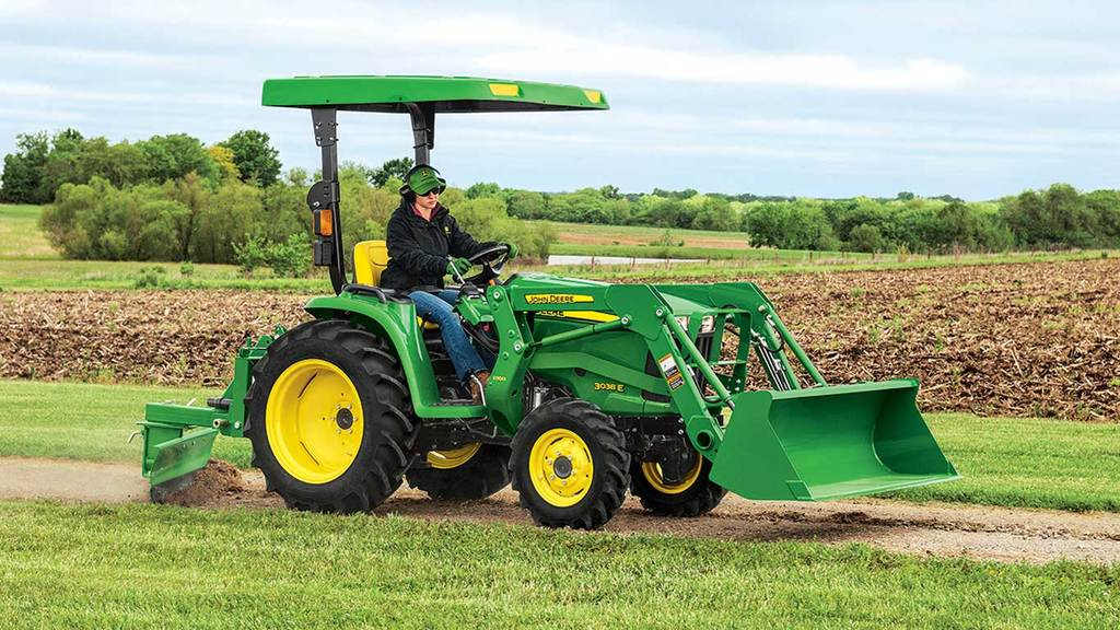 field image of Frontier RB20 rear blade on a tractor