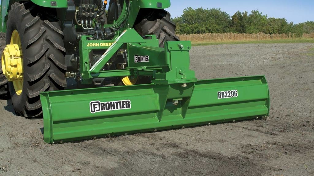field image of Frontier RB22 series rear blade on a tractor