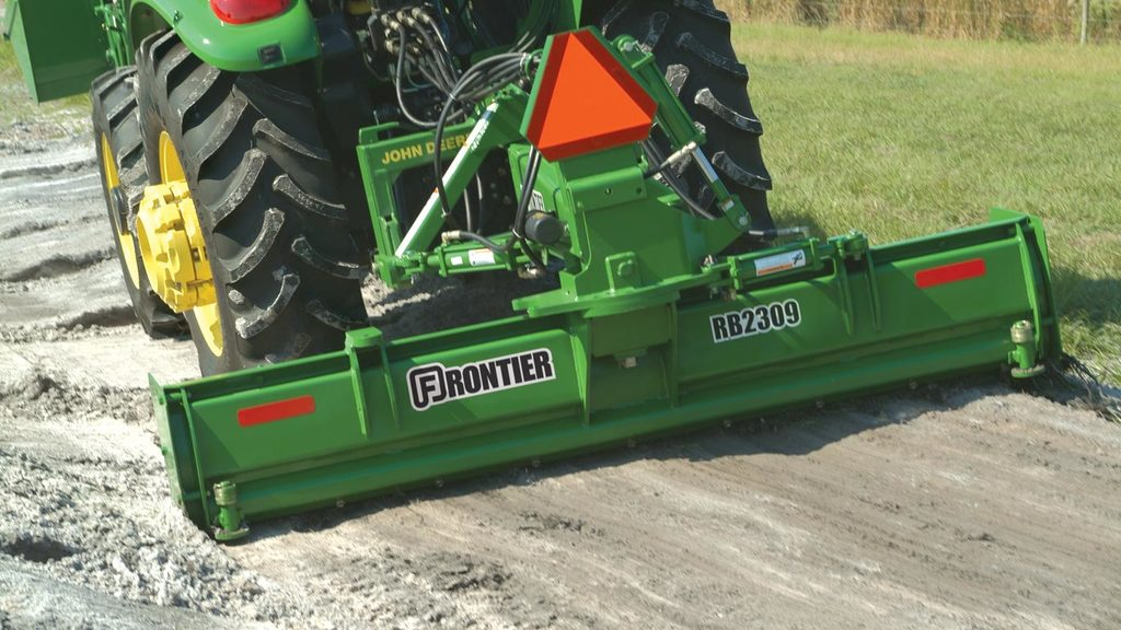 field image of Frontier RB23 series rear blade on a tractor
