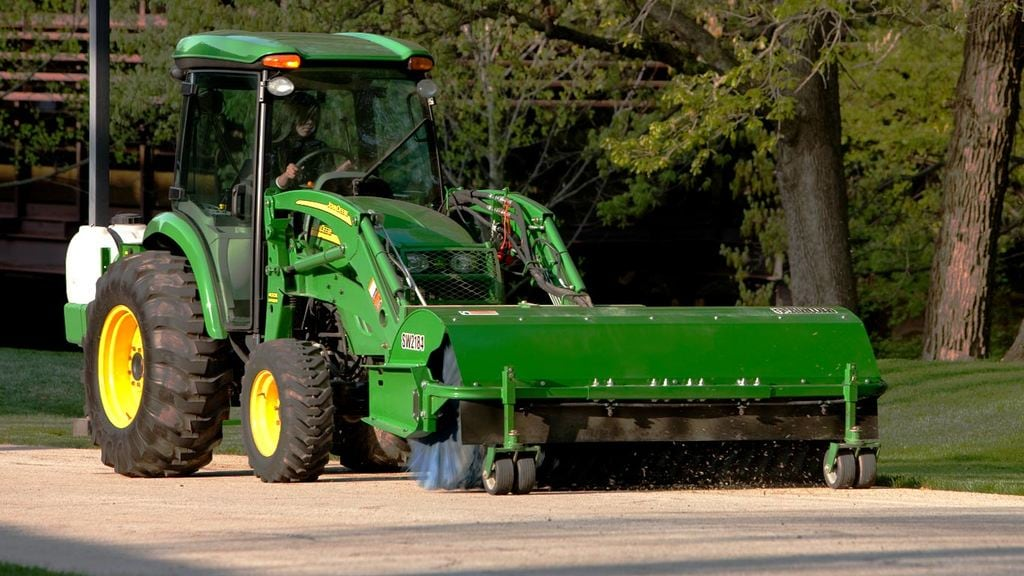 field image of Frontier sw21 rotary broom on tractor
