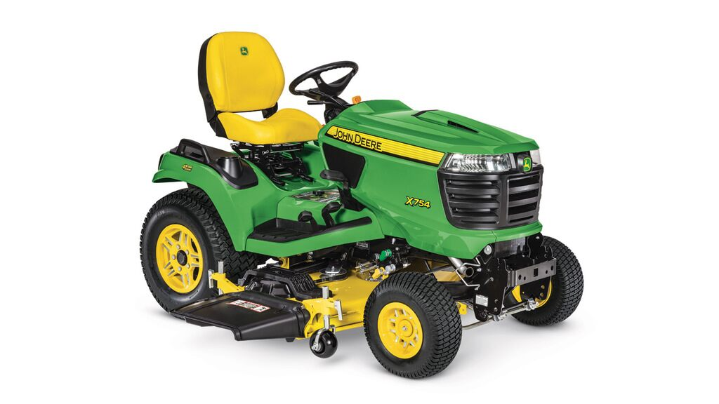 Studio image of x754 Lawn Tractor with 54in mower