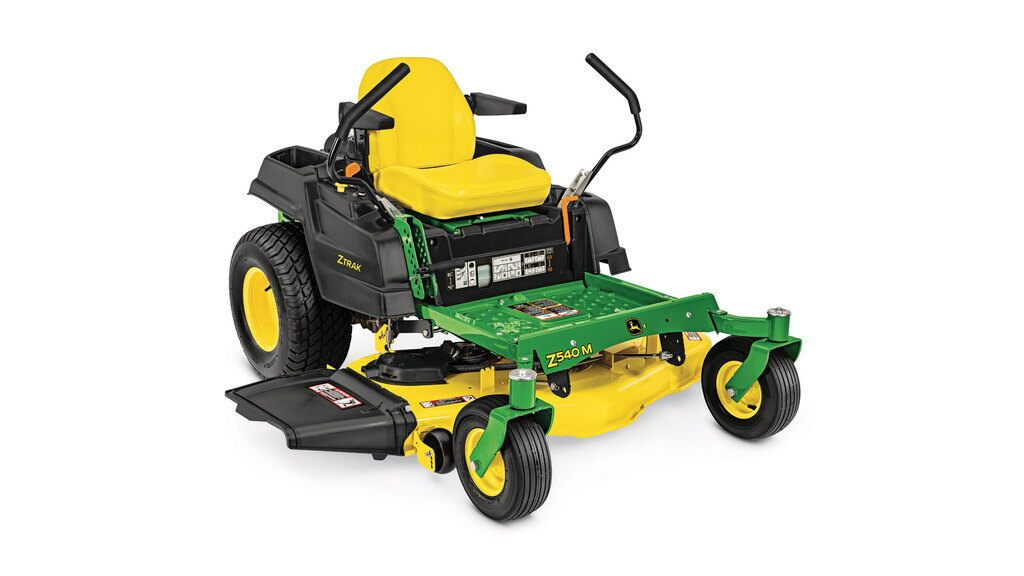 Three-quarter view of Z540M Residential ZTrak Mower