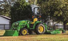 John Deere 3032E Tractor, Loader, Rotary Cutter