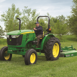 John Deere 5045E Utility Tractor with Rotary Cutter