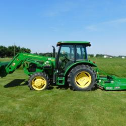 Patriot V Tractor Package - John Deere 5055E Tractor, Loader, Rotary Cutter